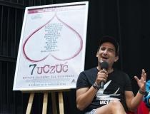 """Gdyńskie Centrum Filmowe. 43. Festiwal Polskich Filmów Fabularnych. Konferencja prasowa filmu pt. """"7 uczuć"""". Michał Koterski"""