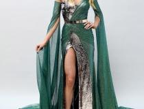 Suknia wieczorowa na finał Miss Universe