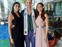 Robert Kapica z Miss World 2016 po lewej i Miss World 2018 po prawej