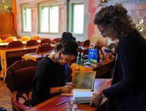 Olga Tokarczuk podpisywała książki