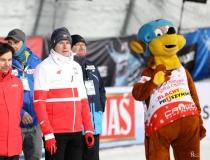 Puchar Świata w Zakopanem. Konkurs drużynowy. Dekoracja zawodników