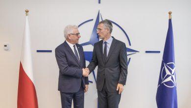 Photo of Szef MSZ Jacek Czaputowicz spotkał się z sekretarzem generalnym NATO Jensem Stoltenbergiem