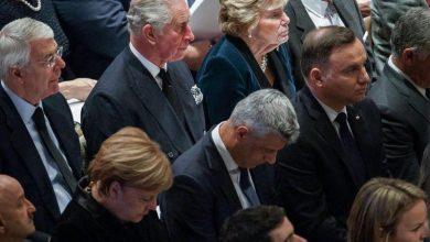 Photo of Uroczystości pogrzebowe George'a H.W. Busha. Andrzej Duda i Lech Wałęsa w Waszyngtonie