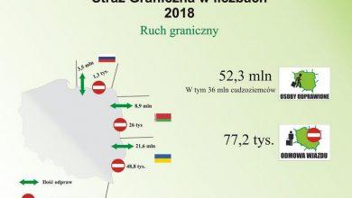 Photo of Straż Graniczna – podsumowanie 2018 roku. Odprawiono 52,3 mln osób