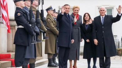 Photo of Prezydent RP Duda i Wiceprezydent USA Pence w Belwederze