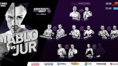 Photo of 6. Knockout Boxing Night. Krzysztof Włodarczyk powalczy w Łomży. Karta walk