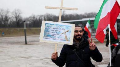 """Photo of Protest przy Stadionie Narodowym. """"Wolny Iran"""" przeciwko władzom w Teheranie [ZDJĘCIA]"""
