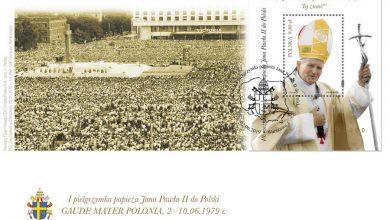 Photo of 40. rocznica pierwszej pielgrzymki papieża Jana Pawła II do Polski. Koperta i znaczek