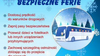 """Photo of Policyjna ogólnopolska akcja """"Bezpieczne Ferie"""" 2020. Autobusy do kontroli"""