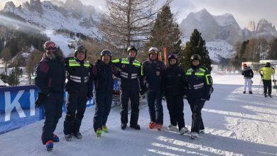 Photo of Włoskie Alpy. Polscy policjanci patrolują na stokach narciarskich