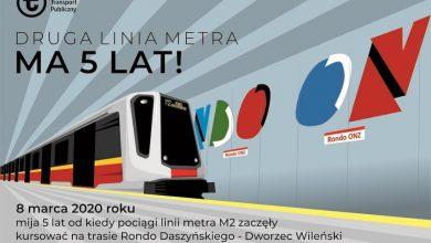 Photo of Piąte urodziny drugiej linii stołecznego metra. Ponad 186 mln pasażerów