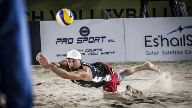Photo of Katara Beach Volleyball Cup Doha 2020. Grzegorz Fijałek i Michał Bryl w finale