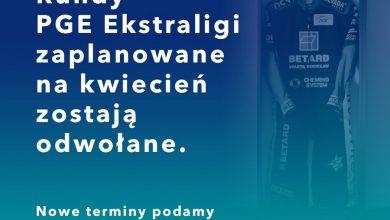Photo of Kwietniowe rundy PGE Ekstraligi odwołane. FIM Speedway of Nations przełożone