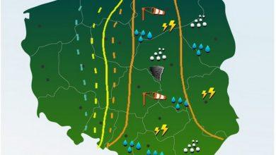Photo of Polska. Intensywne opady deszczu. Wzrost stanów wód. Skutki burz
