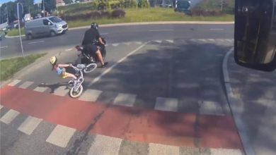 Photo of Olsztyn. Poszukiwany motocyklista potrącenia 6-letniej rowerzystki [WIDEO]