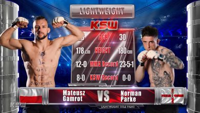 Photo of Przed KSW 53. Bezpłatna walka – Mateusz Gamrot vs Norman Parke 1 [WIDEO]