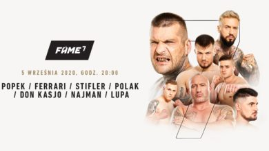 Photo of Gala FAME MMA 7 w Łodzi. POPEK vs STIFLER i LEW vs NAJMAN. Karta walk