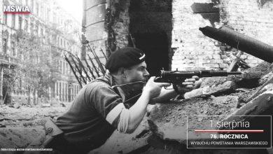 Photo of 1 sierpnia – 76. rocznica wybuchu Powstania Warszawskiego