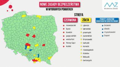Photo of Nowe zasady kwarantanny! Zmiany na liście powiatów. Kraków w strefie żółtej!