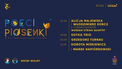 """Photo of Koncertowy cykl spotkań """"Poeci Piosenki"""" w Multimedialnym Parku Fontann – Soyka, Turnau, Miśkiewicz i Napiórkowski"""