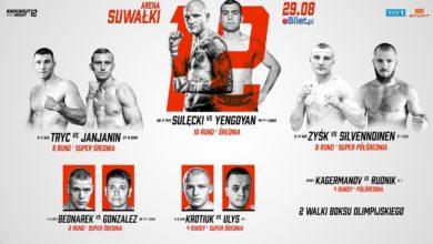 """Photo of Gala Knockout Boxing Night 12. Powrót Sulęckiego. """"Bestia ze Wschodu"""" czeka. Karta walk"""
