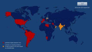 Photo of Oficjalnie. Zakaz lotów do Polski z 30 państw. Francja nowym krajem. Czechy, Gibraltar, Indie i ZEA zagrożone