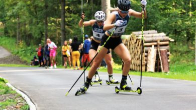 Photo of Mistrzostwa Polski Seniorów w biegach na nartorolkach. Izabela Marcisz i Dominik Bury złotymi medalistami