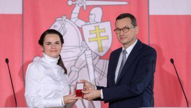 """Photo of Swiatłana Cichanouska w Polsce. """"Dla nas Łukaszenka nie jest już przywódcą"""""""