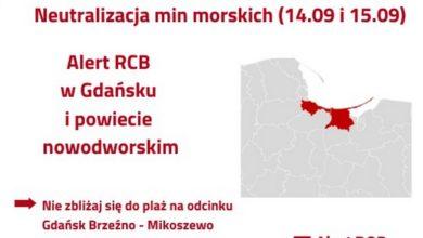 Photo of ALERT RCB: 14 i 15 września – neutralizacja min morskich w Gdańsku