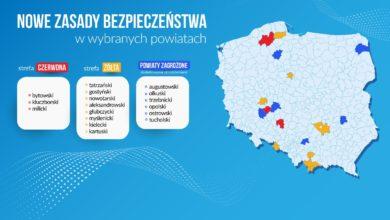 """Photo of Koronawirus. Aktualne strefy """"czerwone"""" i """"żółte"""". 11 powiatów [LISTA]"""
