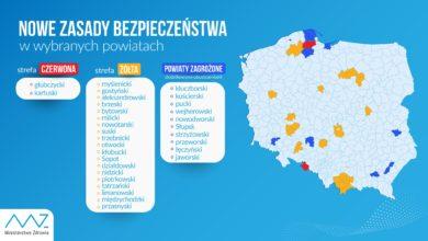 Photo of Aktualna lista czerwonych i żółtych stref. 21 powiatów z dodatkowymi ograniczeniami