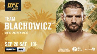 Photo of MMA. Jan Błachowicz został mistrzem UFC. Polak pokonał Dominicka Reyesa