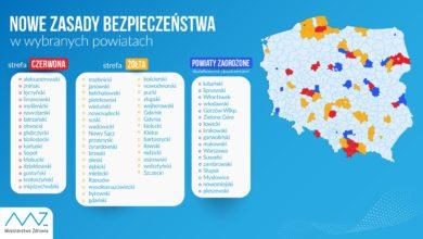 Photo of Rekord zakażeń koronawirusem w Polsce. Aż 17 powiatów w czerwonej strefie. LISTA