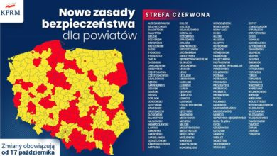 Photo of Koronawirus. Połowa Polski w czerwonej strefie. Szkoły, wesela, sklepy – nowe obostrzenia