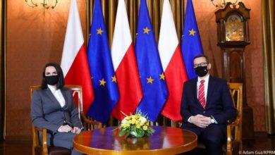 Photo of Spotkanie premiera Morawieckiego ze Swiatłaną Cichanouską