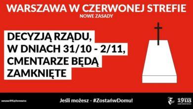 Photo of Cmentarze zamknięte. Rząd gardzi samorządami. Przez PiS Warszawa straci ponad 1,1 mln zł