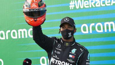 Photo of F1. GP Eifel. Lewis Hamilton zwycięzcą na Nurburgringu. Brytyjczyk wyrównał rekord Schumachera