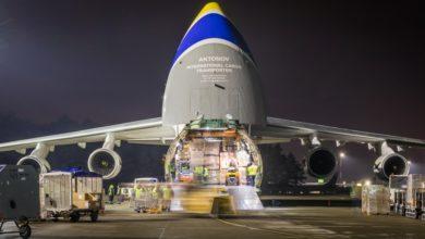 Photo of Antonov An-124 Rusłan kolejny raz na katowickim lotnisku. Samolot transportowy wypełniony produktami medycznymi