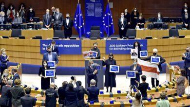 Photo of Bruksela. Białoruska opozycja odebrała Nagrodę im. Sacharowa 2020