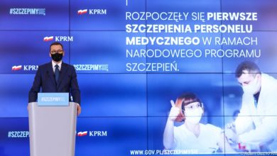 Photo of UE. Ruszyły szczepienia przeciw covid-19. Morawiecki: za 2 tygodnie może wzrosnąć liczba zakażeń po spotkaniach świątecznych