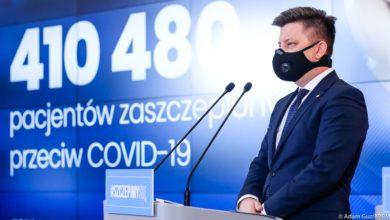 Photo of 15 stycznia. 450 tysięcy Polaków zaszczepionych przeciwko COVID-19. Prawie 500 tys. chętnych