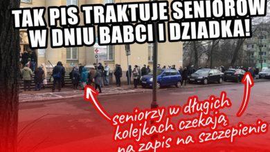 Photo of Szczepienia wg PiS. Seniorzy muszą stać w długich kolejkach w Dniu Babci i Dziadka