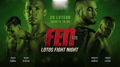 Photo of Gala FEN 32: Fight Night. Mateusz Rębecki vs Jose Barrios w pojedynku o pas mistrzowski. Karta walk