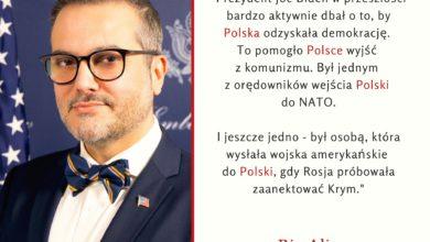 Photo of Bix Aliu reprezentuje USA w Polsce. Michael Carpenter nie będzie amerykańskim ambasadorem w Polsce