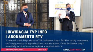 Photo of KO. Zbiórka podpisów pod projektem ustawy dot. likwidacji TVP Info i abonamentu RTV