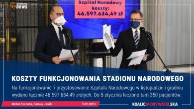 Photo of KO. 46,6 mln zł na funkcjonowanie Stadionu (Szpitala) Narodowego. Zamiast tarczy dla przedsiębiorców – prokurator. Tupolewizm PiS