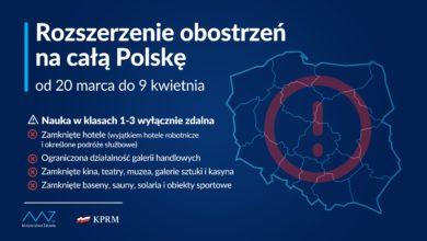 Photo of Lockdown w Polsce. Obostrzenia wróciły. Zamknięte kina, baseny, hotele. Nauka w trybie zdalnym