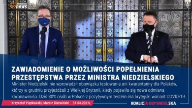 Photo of KO składa zawiadomienie do prokuratury o możliwości popełnienia przestępstwa przez ministra Niedzielskiego