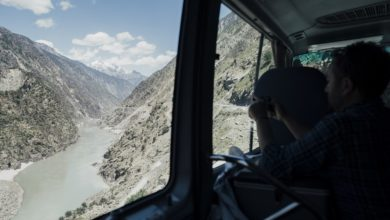 Photo of Karakorum. Andrzej Bargiel pod Yawash Sar II. Wkrótce zjedzie na nartach z dziewiczego szczytu