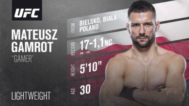Photo of UFC Vegas 23. Mateusz Gamrot pokonał Holtzmana. Efektowny nokaut [WIDEO]